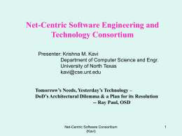 North Texas Service Oriented Systems Engineering