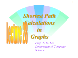 Shortest Path Calculations in Graphs