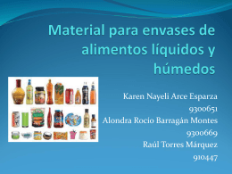 Envases para alimentos líquidos y húmedos