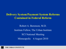Delivery System/Payment System Reforms Contained