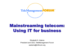 TeleManagement Forum & SMART TMN™ - TINA-C
