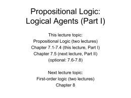 Logical Agents A