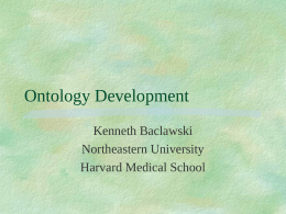 Ontology Development - Northeastern University