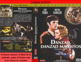 Carátula en DVD