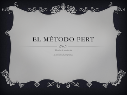 EL MÉTODO PERT