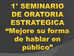 1° seminario de oratoria estratégica