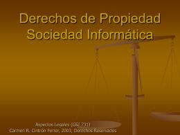 Derechos de Propiedad Sociedad Informática