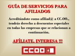 GUÍA DE SERVICIOS PARA AFILIADOS