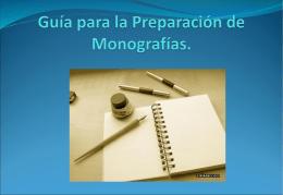 Guía para la Preparación de Monografías.
