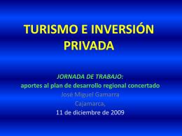 TURÍSMO E INVERSIÓN PRIVADA