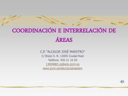 COORDINACIÓN E INTERRELACIÓN DE ÁREAS