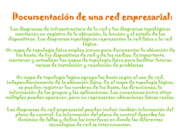 Documentación de una red empresarial: