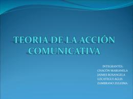 TEORIA DE LA ACCIÓN COMUNICATIVA