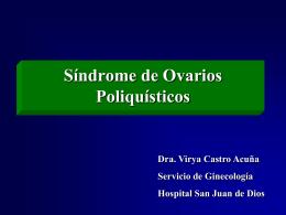 Fisiopatología del Síndrome de Ovarios