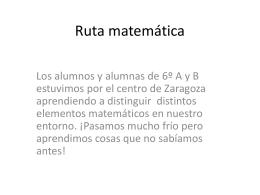 Ruta matemática
