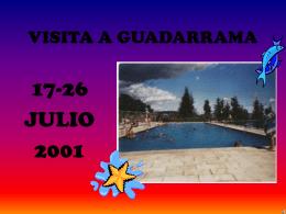 VISITA A GUADARRAMA - Universidad de Cádiz