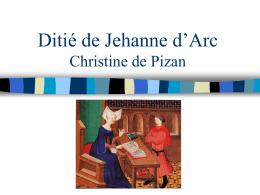 Ditié de Jehanne d'Arc