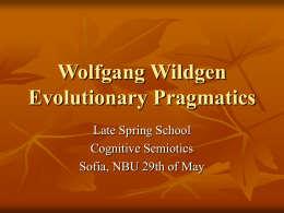Wolfgang Wildgen Evolutionary Pragmatics -