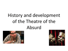 History and development of the Theatre of the