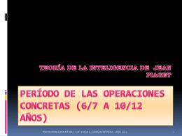 PERÍODO DE LAS OPERACIONES CONCRETAS (6/7 A 10/12