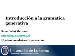 Fundamentos de la gramática generativa