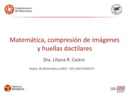 Matemática, compresión de imágenes y huellas