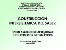 METÁFORA DE LA CONSTRUCCIÓN DE SABER