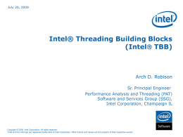 Intel® Threading Building Blocks
