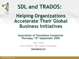 SDL and TRADOS