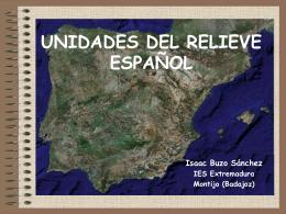 UNIDADES DEL RELIEVE ESPAÑOL