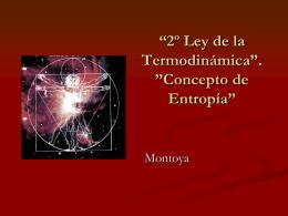 "2º Ley de la Termodinámica"". ""Concepto de"