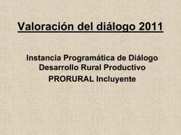 Resultados del diálogo 2011