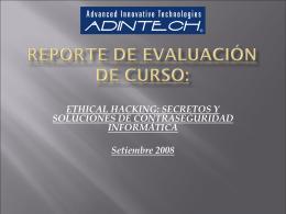 Resultados de Evaluación (1) Curso: ETHICAL