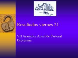 Resultados viernes 21 - Sitio de la Vicaría de