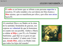 CULTO Y DEVODIÓN, 1