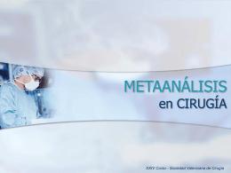 Metaanálisis en Cirugía