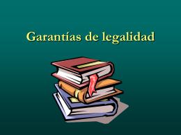 Garantías de legalidad