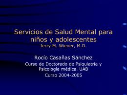 Servicios de Salud Mental para niños y