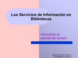 Servicios ofrecidos en u. De información