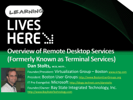 Overview of Remote Desktop Services (Formerly