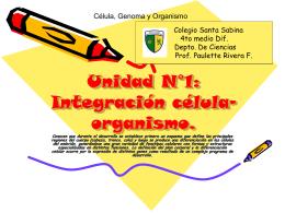 Unidad N°1: Integración célula