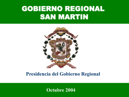 PLAN DE DESARROLLO REGIONAL SAN MARTÌN