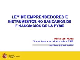 LÍNEAS GENERALES DE POLÍTICA DE INDUSTRIA Y PYME