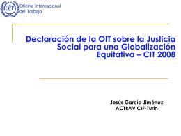 La actividad normativa de lla OIT en la era de la
