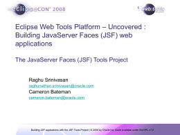 Building applications with WTP JavaServer Faces