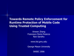 Towards Remote Policy Enforcement for Runtime