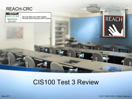CIS100 Test Review - Resources for Academic