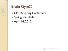 Brain Gym - Utah Municipal Clerks Association