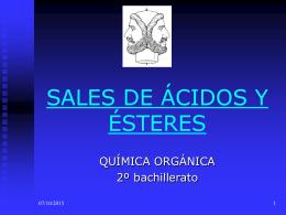 SALES DE ÁCDIOS Y ÉSTERES