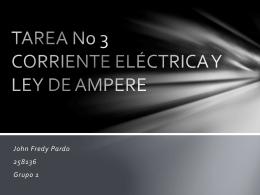 TAREA No 3 CORRIENTE ELÉCTRICA Y LEY DE AMPERE